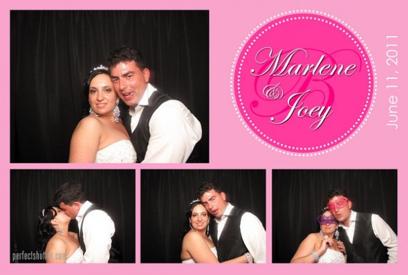 marlene & joey | mississauga photo booth rental
