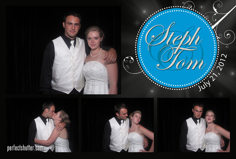 Steph and Tom | Wedding Photo Booth Rental | Pointe West Golf Club in Amherstburg, Ontario