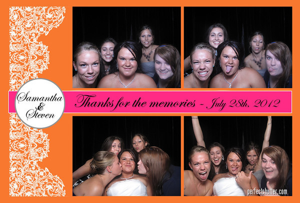 Samantha and Steven's Wedding Photo Booth Rental