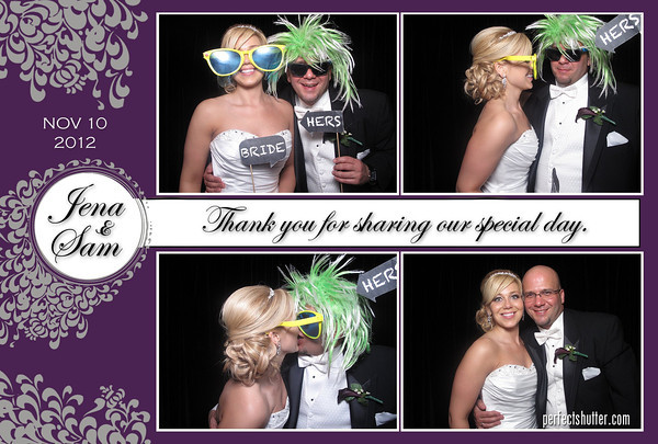Jena and Sam's Windsor Photo Booth Rental