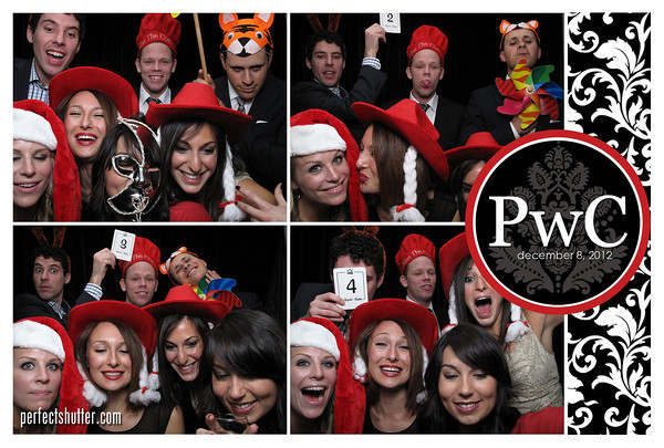 Windsor Photo Booth Rental - PwC Holiday Party 2012
