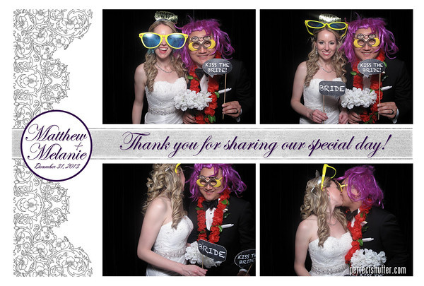 New Year's Eve Windsor Photo booth Rental | Melanie and Matthew