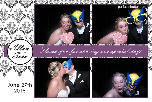 Sara and Allan's Wedding Photobooth Rental